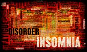 Insomnia a Sleep Disorder Concept in Grunge poster