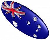 national flag of Australia ellipsoid in 3d poster