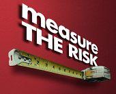 Measure the Risk Measuring Tape Liability Impact 3d Illustration poster