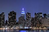 New York City skyline at Night Lights, Midtown Manhattan poster