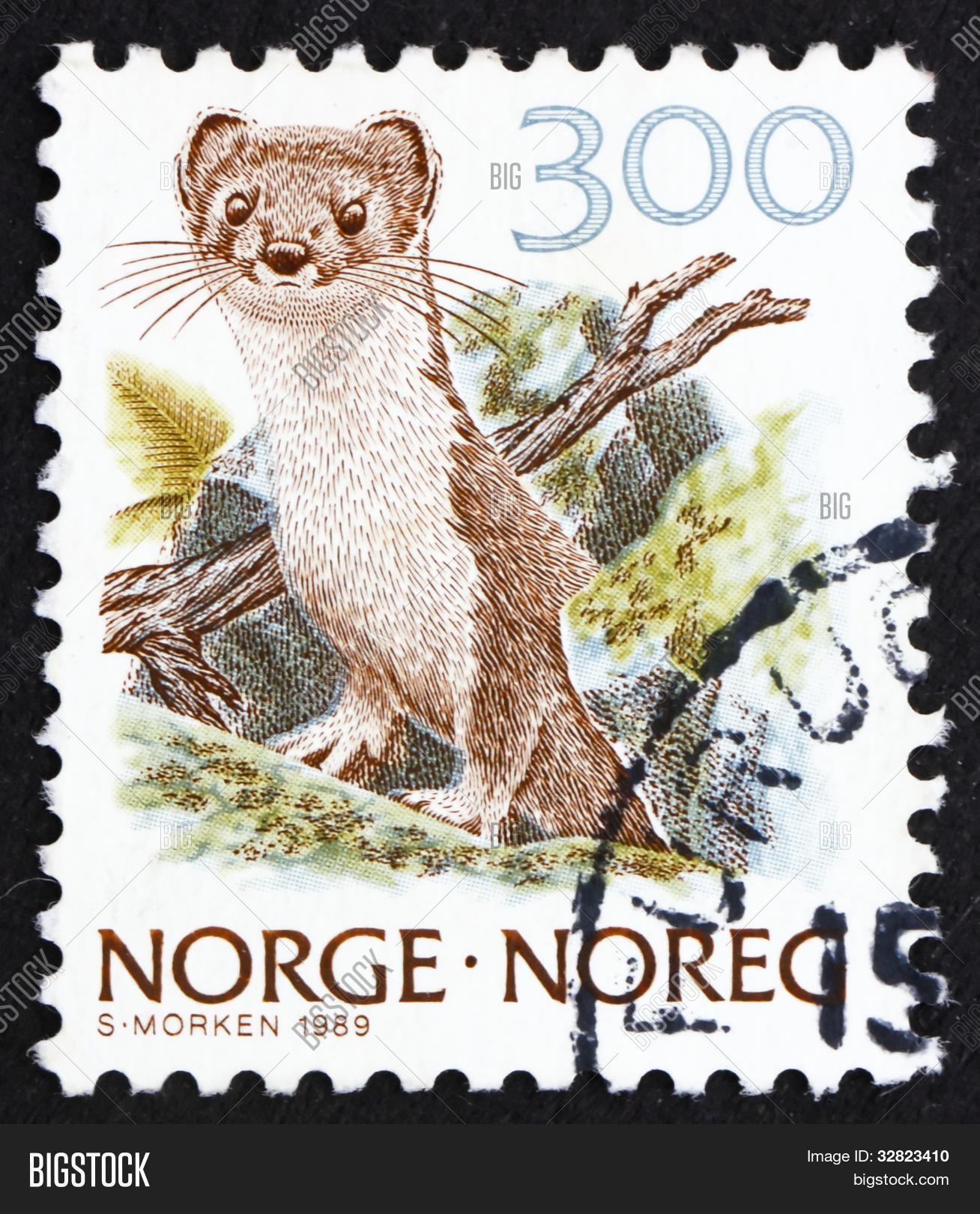 Postage Stamp Norway Image & Photo (Free Trial) | Bigstock