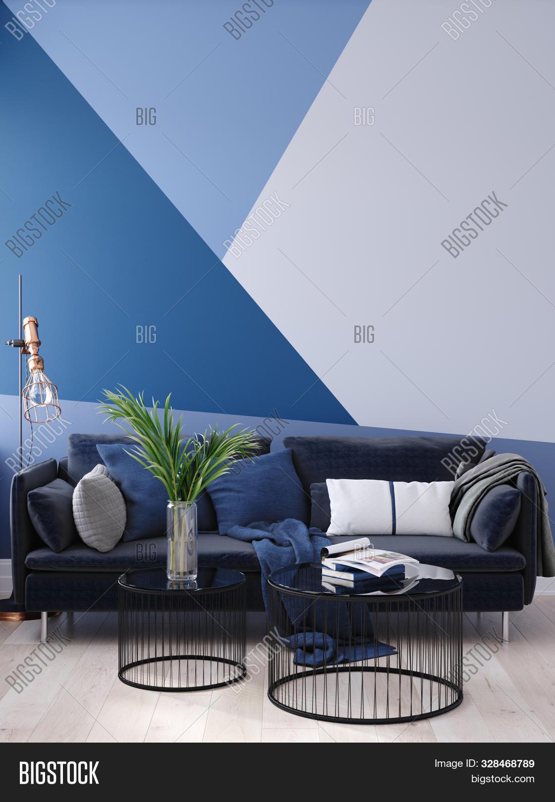 Luxury Modern Blue Image Photo Free Trial Bigstock