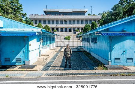 Jsa Korea, 24 September 2019 : Border Between The North And South Korea At The Joint Security Area O