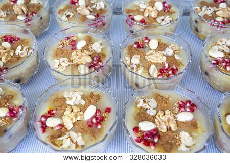 The Oldest Dessert In The World,asure Or Ashura(noah Pudding)traditional Dessert To Serve On The 10t