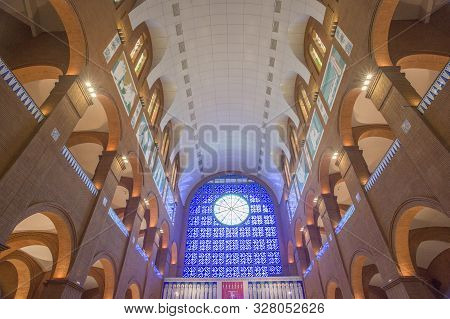 Aparecida, São Paulo, Brazil - January 13, 2016: Cathedral Of Nossa Senhora  Aparecida National Sanc