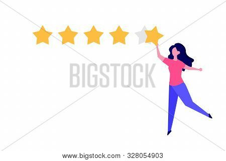 Happy Customer, User Feedback Review Concept Vector Illustration Flat Style.