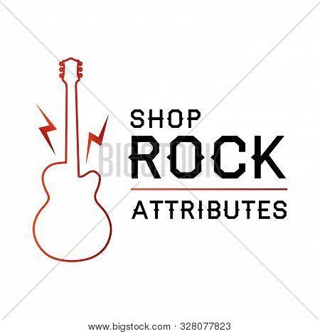 Vector Logo For Rock Shop Paraphernalia And Symbols