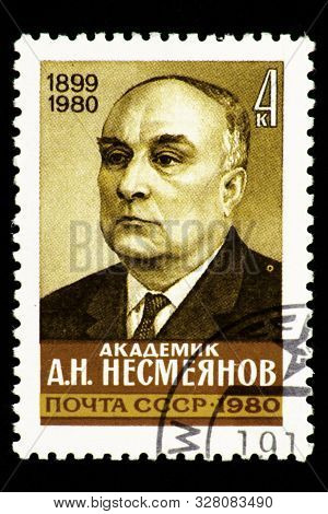07.24.2019 Divnoe Stavropol Territory Russia Postage Stamp Of The Ussr 1980 Academician A.n. Nesmeya