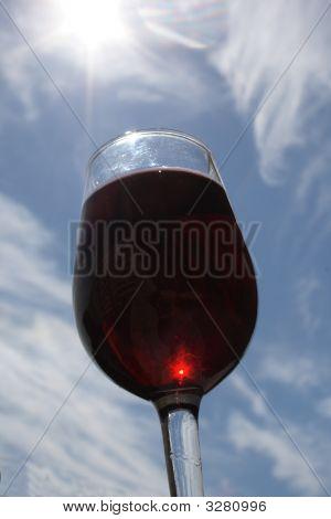 Red Wine On Sky