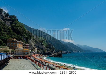 Monterosso Al Mare, Italy - June 3, 2019 : Monterosso Al Mare Is A Town In The Province Of La Spezia