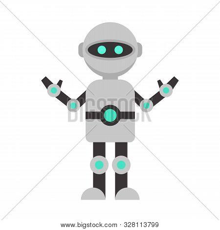 Futuristic Humanoid Icon. Flat Illustration Of Futuristic Humanoid Vector Icon For Web Design