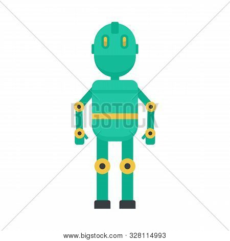 Metal Humanoid Icon. Flat Illustration Of Metal Humanoid Vector Icon For Web Design
