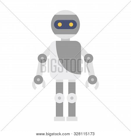 Machine Humanoid Icon. Flat Illustration Of Machine Humanoid Vector Icon For Web Design