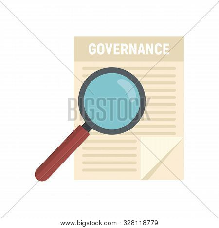 Governance Paper Icon. Flat Illustration Of Governance Paper Vector Icon For Web Design