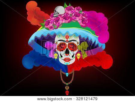 Catrina La Calavera. Catrina Is A Character Of The Mexican Popular Culture That Represent The Death