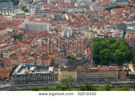 Grenoble Old City From Above.