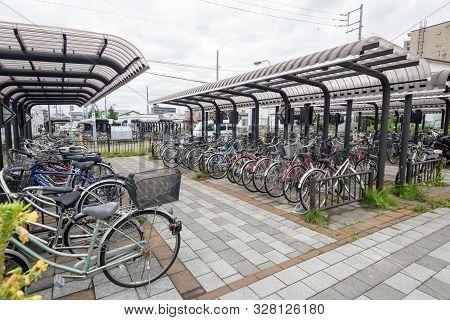Bicycle Parking In Japan