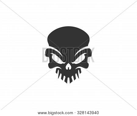 Skull Logo, Icon Or Skull Illustration, Vector Of Skeleton.