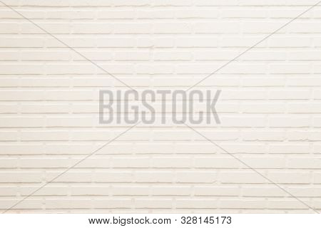 Wall Cream Brick Wall Texture Background In Room At Subway. Brickwork Stonework Interior, Rock Old C