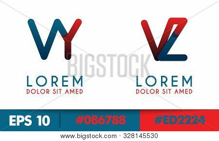 V Alphabet Logo Concept For Company Or Corporations Industry, Print Various Online And Offline, Prom