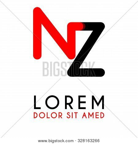 Initial Letter Nz With Red Black And Has Rounded Corners