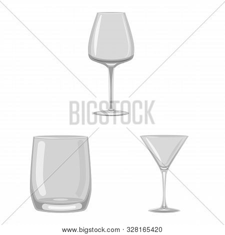 Vector Design Of Capacity And Glassware Icon. Collection Of Capacity And Restaurant Stock Vector Ill