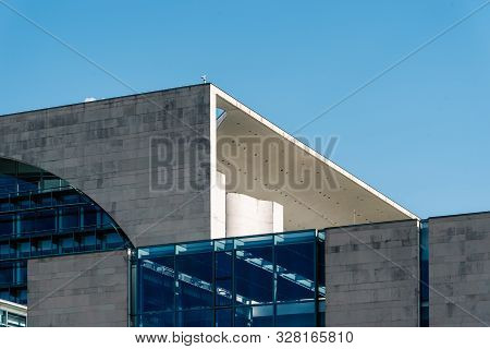 Berlin, Germany - July 27, 2019: The Bundeskanzleramt, German Federal Chancellery, Main Seat And Off