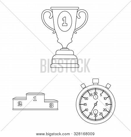 Isolated Object Of Exercise And Sprinter Icon. Collection Of Exercise And Marathon Stock Symbol For