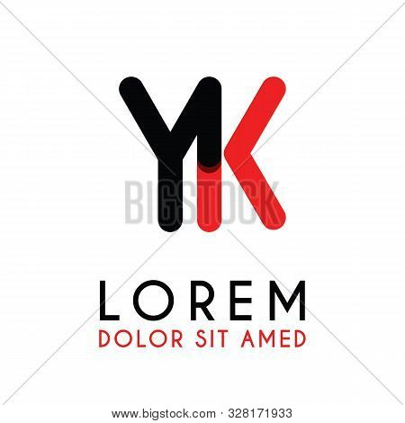 Initial Letter Yk With Red Black And Has Rounded Corners