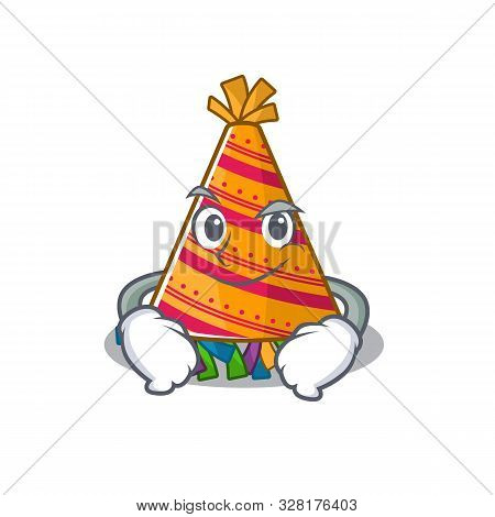 Smirking Party Hat With In The Cartoon