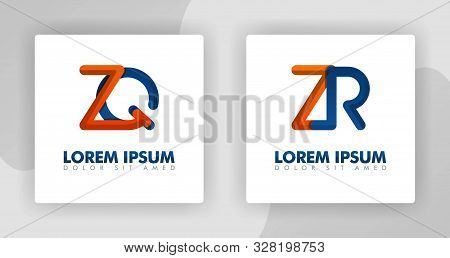 Zq And Zr Logo Letters In 3d Style. Can Be Used For Company Logos, Fellowships, Consultants, Website