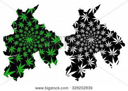 Lancashire (united Kingdom, England, Non-metropolitan County, Shire County) Map Is Designed Cannabis