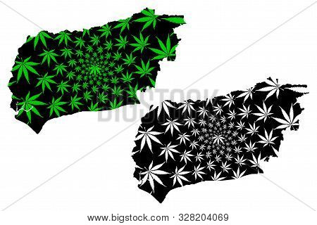 West Sussex (united Kingdom, England, Non-metropolitan County, Shire County) Map Is Designed Cannabi