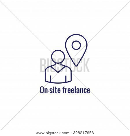 In-company And Outsource Icon W Freelancing Or Hiring Imagery