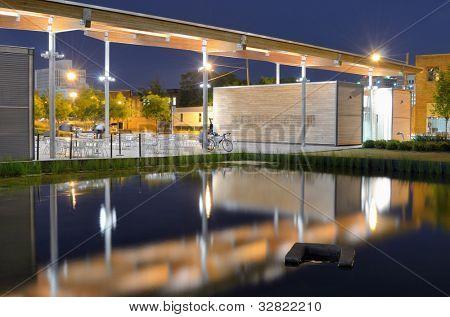 Pavilion at Railroad Park in Birmingham, Alabama, USA