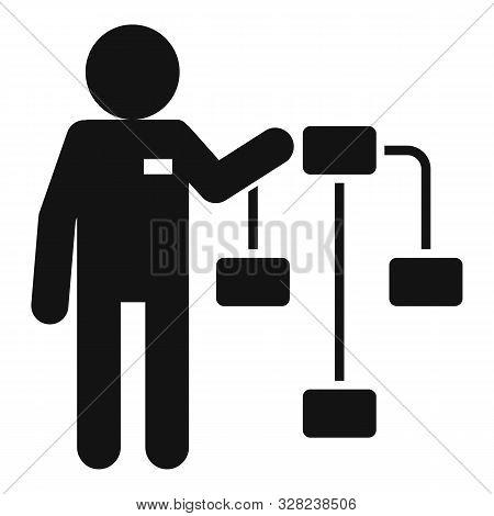 Administrator Staff Icon. Simple Illustration Of Administrator Staff Vector Icon For Web Design Isol