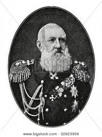 Russian Admiral, Count Loggin Heyden. Photo by Levitsky. . Published in magazine
