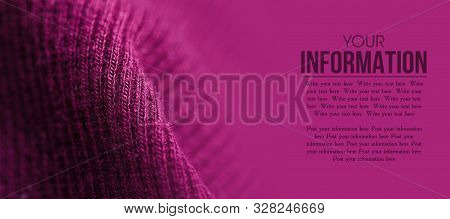 Fabric Warm Purple Pink Lilac Sweater Textile Material Texture Pattern Blur Background Macro