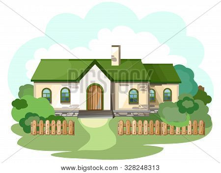 The House Is Fabulous, Cartoon. Village Cottage. House In The Forest. Holiday. Cottage, Cottage. Col