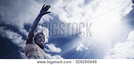 God Zeus (jupiter). The King Of The Gods The Ruler Of Mount Olympus And The God Of The Sky And Thund