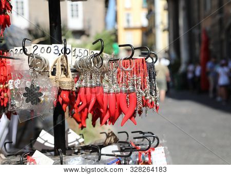 Red Cornet As Talisman For Sale In Naples In Italy