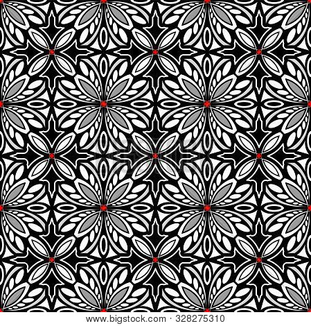 Decorative Black And White Ornament With A Pattern