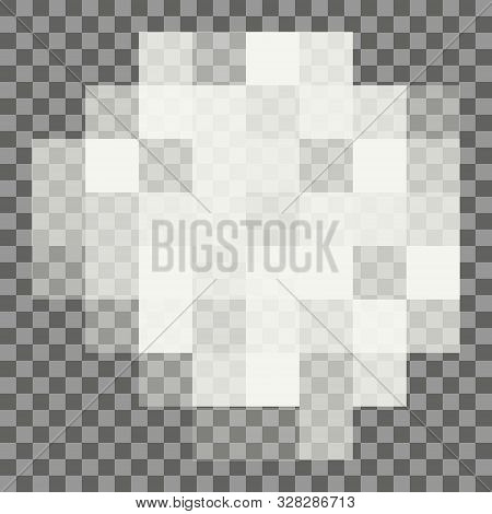 Blured Grey Squares Censorship Background. Censored Picture Vector Illustration. Nudity Prohibition