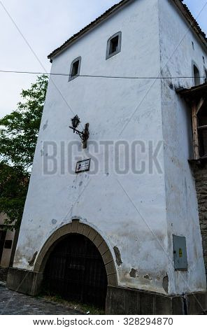 Bistrita, Romania - June 18, 2019: The Architecture Of The Coopers Tower Is An Achievement Of The Go