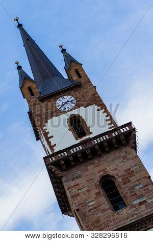 The Tower Of The Evangelical Church In Bistrita, With A Height Of 75 M, Is The Highest Medieval Towe