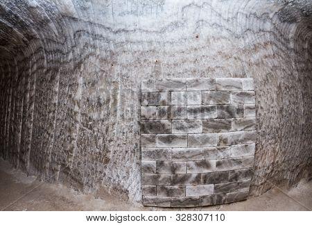 The Texture Of The Salt. Salt Wall