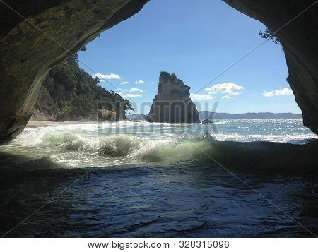 Cathedral Cove At Te Whanganui-a-hei Marine Reserve