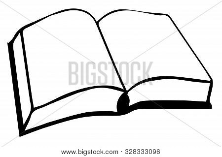 Book Vector On White Background  Paper, Paperback, Phone, Read.