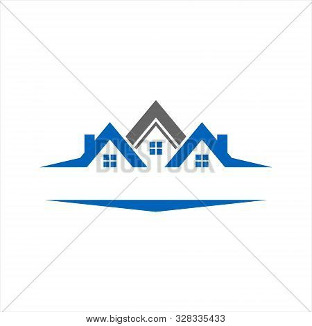 Realty House Construction Logo. Isolated Vector Icon Home Logo With A White Background ,. Simple Hom