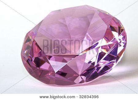 Faceted Pink Kunzite Gemstone